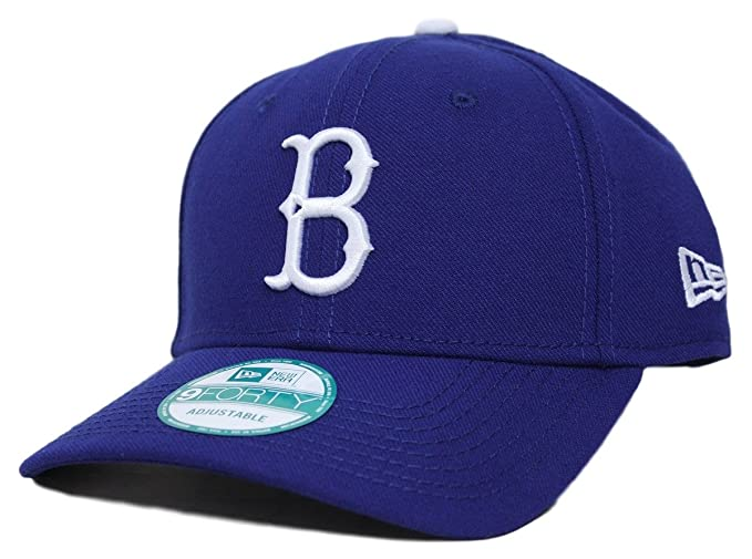 e77a7485ee996 Amazon.com   New Era Brooklyn Dodgers MLB 9Forty Cooperstown Classic Custom Adjustable  Hat   Clothing