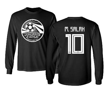 Tcamp Egypt 2018 National Soccer  10 Mohamed SALAH World Championship Men s  Long Sleeve T- c03626e30