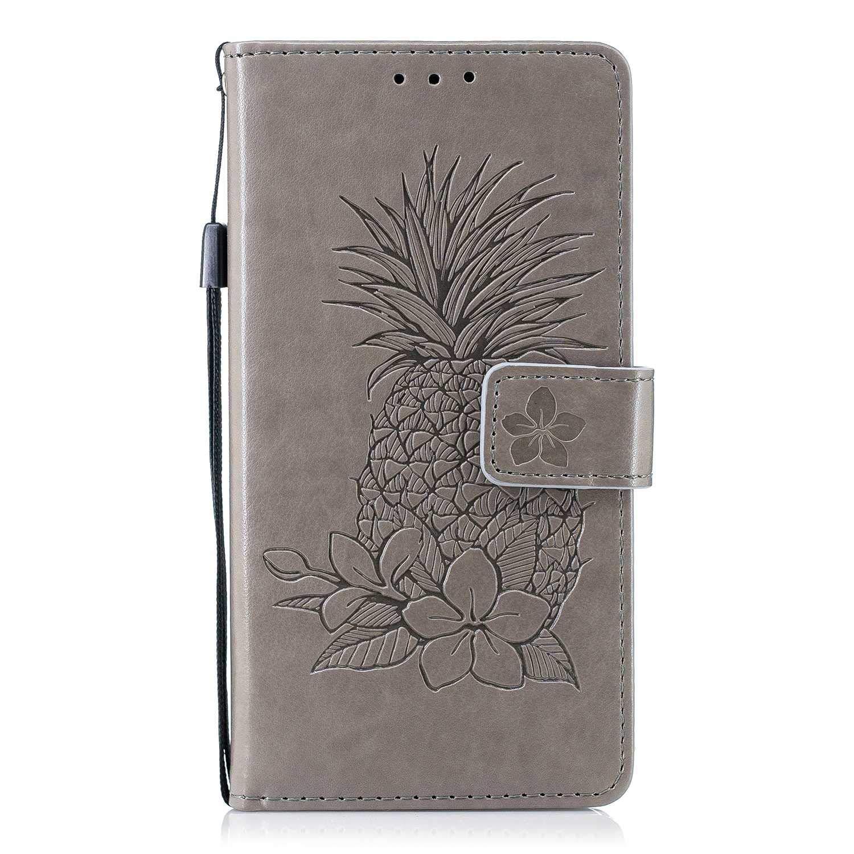 The Grafu® Coque Portefeuille pour Huawei P10, Housse en Cuir de Protection avec Emplacements pour Cartes et Monnaie, Anti Rayures Support Coque, Gris
