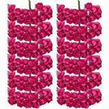 144pcs Artificial Paper Rose Flower Buds Mini Bouquet Party Decor- Rose red