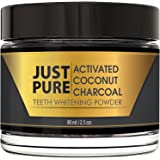 Teeth Whitening Activated Coconut Charcoal Powder – Natural + Organic – Get A Whiter, Brighter Smile Quickly – Enamel Is Cleaner And Smoother With No Sensitivity – No More Peroxide Kit, Strips, Gel, Pen or Light