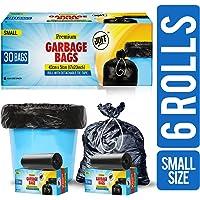 JOFF Premium Garbage Bags - Small (43cmx51cm, 6 Rolls, 180 Bags, Black)