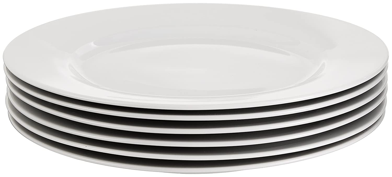 amazon com amazonbasics 6 piece dinner plate set dinner plates
