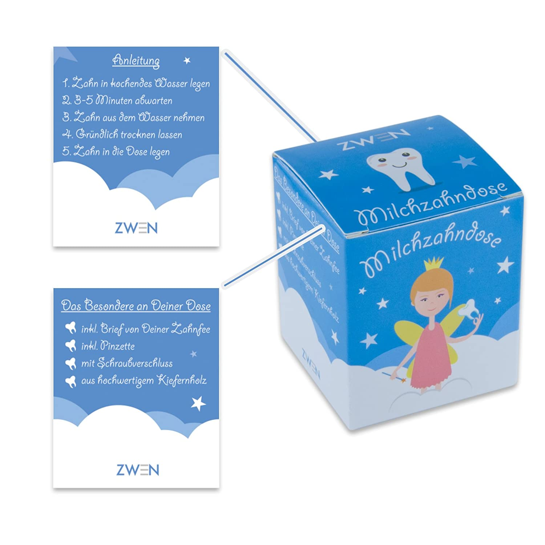 Meine Milchz/ähne Zahndose mit Namen personalisiert Die Zahnbox hat einen Deckel mit Schraubverschluss Milchzahndose aus Holz 26 f/ür Jungen /& M/ädchen perfekt als kleines Geschenk /· Zahnfee