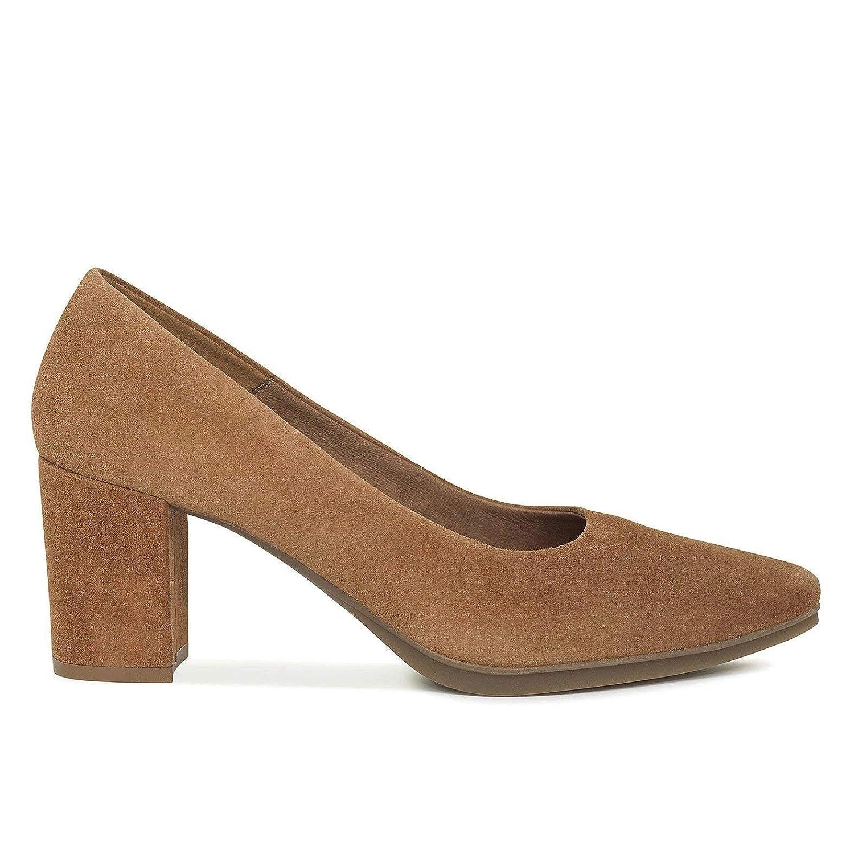 Urban S - Zapatos Mujer tacón Ancho Cuero