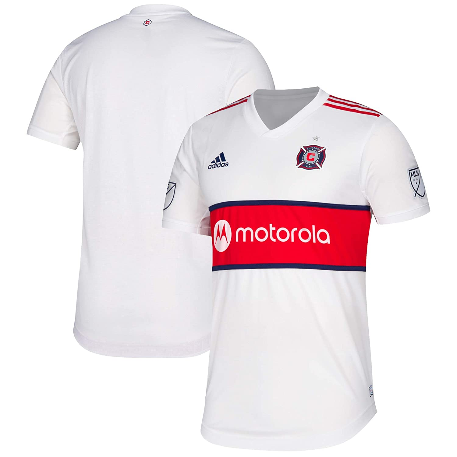 new products 62a18 ef305 Amazon.com : adidas Men's Chicago Fire MLS White 2019 ...