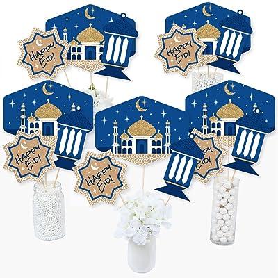 Ramadan - Eid Mubarak Centerpiece Sticks - Table Toppers - Set of 15: Toys & Games