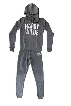 Gris Pantalon Foncé Moda Capuche Harry Wilde À Jogging Femme Sweat tq06wqv