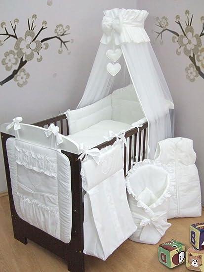 15 piezas bordado bebé Juego de ropa de cama, para cuna ordenado, pañal bolsa