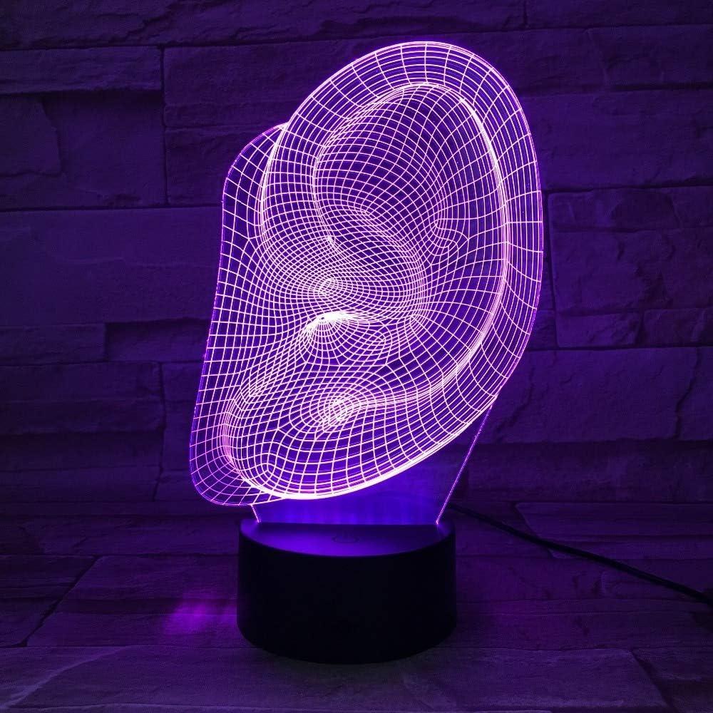 Abstrakte Ohrform Lampenst/änderlampe Halloween-Dekoration Geschenk Kinderurlaub Lava Lampe Drop Boot