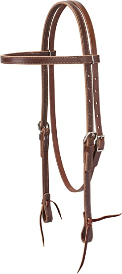 Intrepid International Knotted Brow Band Harness Leather Headstall