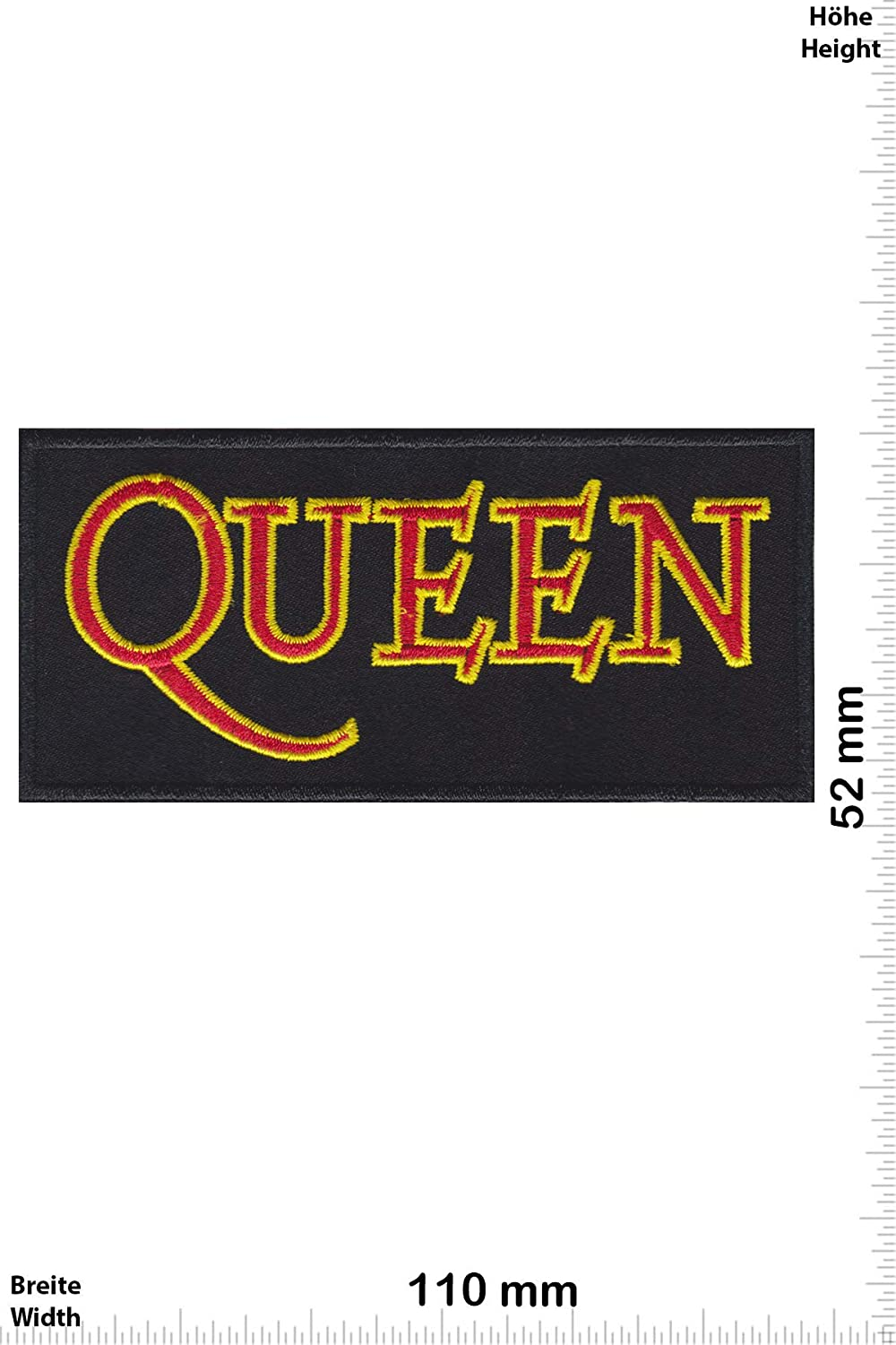 Patch - Queen -Music - Red Gold -Musique - -Queen - Iron on Applique Embroidery Écusson brodé Costume Cadeau- Give