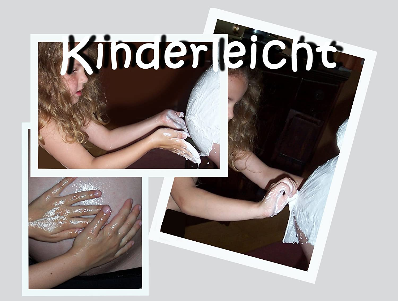 Aufh/ängung und Veredelung 6 in 1 auch f/ür Zwillingsbauch Deutsches Produkt Gl/ättung XXL bambelina Babybauch Gipsabdruck Komplett-Set incl