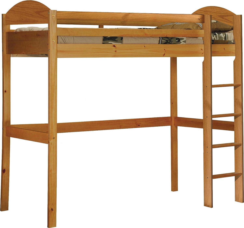 Design Vicenza Maximus Hochbett, Holz, Kiefer antik, Single, 3ft