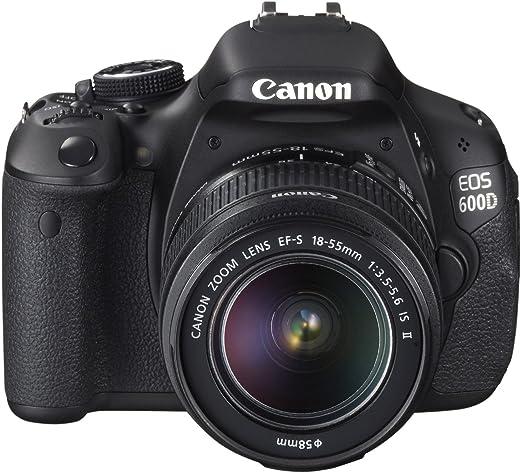 Canon EOS 600D - Cámara Réflex Digital 18.7 MP (Objetivos 18-55 IS ...