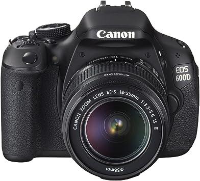 Canon EOS 600D - Cámara Réflex Digital 18.7 MP (Objetivos 18-55 ...