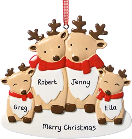 Personalised Reindeer Christmas Decorations