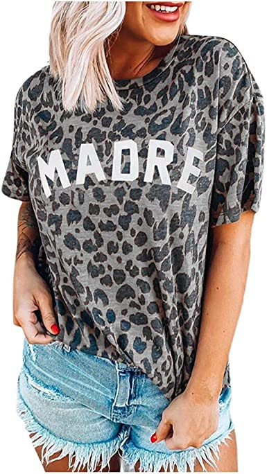 Camisetas Mujer Manga Corta Cuello Redondo Casual Moda ...