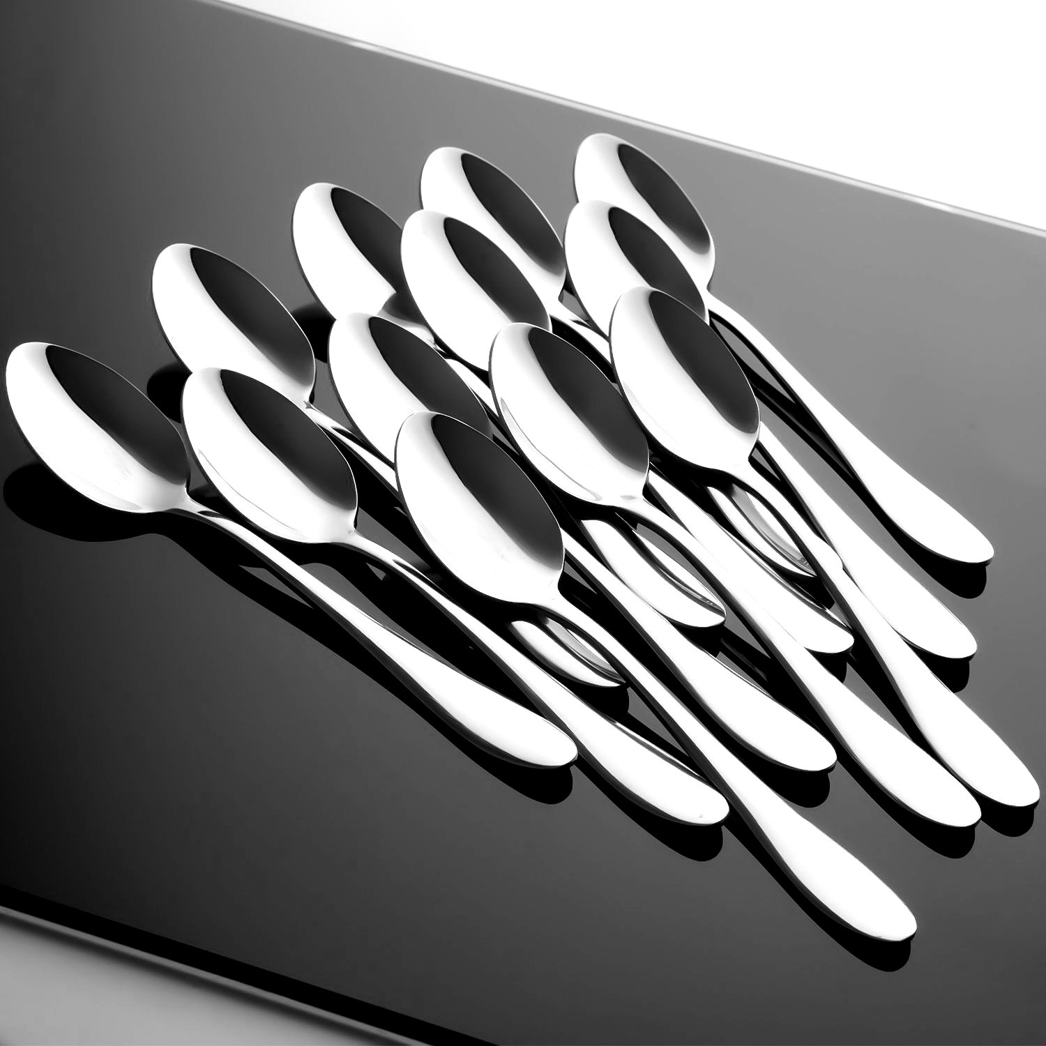 Hiware 12-piece Extra-Fine Stainless Steel Dinner Spoons, Use for Home, Kitchen or Restaurant - 7 1/3 Inches by Hiware (Image #7)