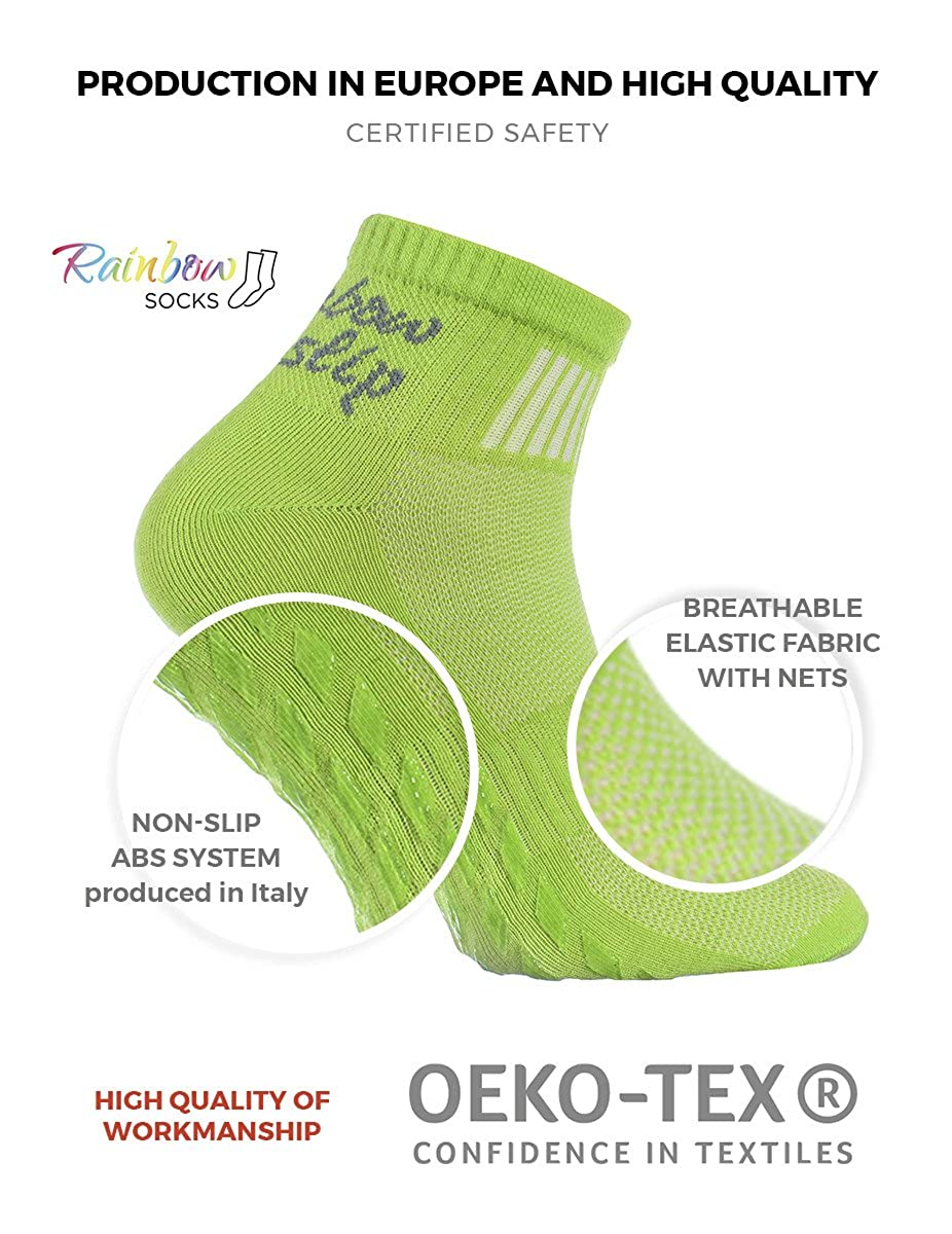 Algod/ón Respirable Yoga Danza Trampol/ín Tama/ños 36-46 Pilates Fitness ideal para los Deportes Gimnasia ABS 1,2,4 o 6 pares de calcetines Antideslizantes Negros Artes Marciales