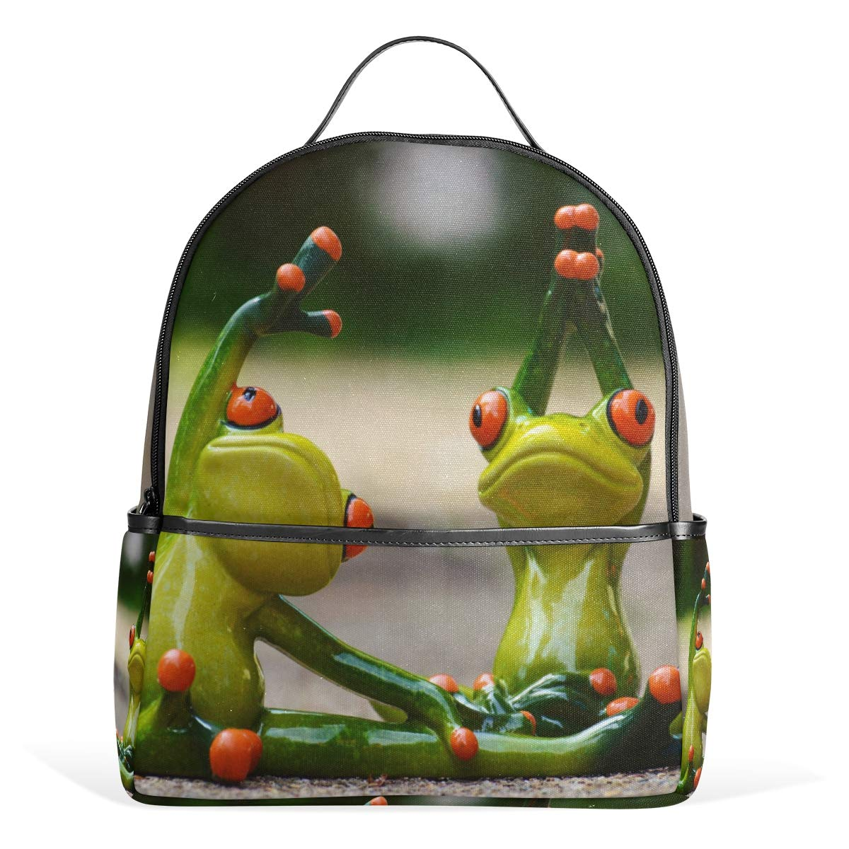 Amazon.com | MUOOUM Awesome Two Frog Yoga Backpack Casual ...