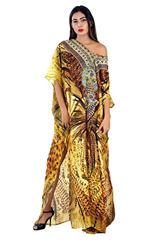 29eeb766c11e Amazon.com  Silk kaftan online one piece dress on sale jeweled hand  made formal caftan beach cover up hot look luxuries Resort yacht party  kaftan  Handmade