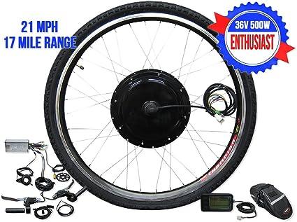 26 pulgadas Rueda delantera bicicleta eléctrica Kit: Amazon.es ...