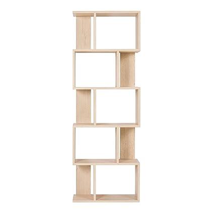 Rebecca Srl Scaffale Libreria 5 Ripiani Legno Beige Stile Moderno ...