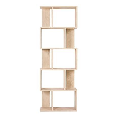 Arredamento In Legno Moderno.Rebecca Mobili Scaffale Moderno Libreria Di Legno 5 Ripiani In Stile Moderno Beige Arredamento Soggiorno Casa Ufficio Misure 172 5 X 60 X 24