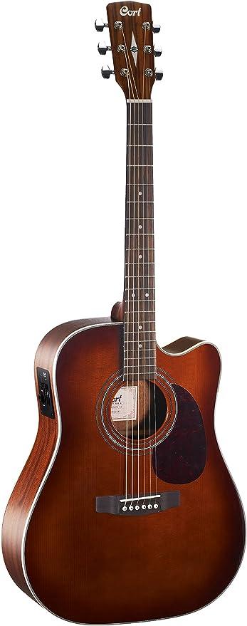 Guitarra electroacustica Cort MR500E BR: Amazon.es: Instrumentos ...