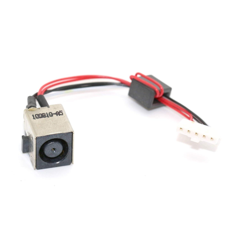 DNX Connecteur de Charge d'alimentation Compatible PC Portable Dell INSPIRON 15R 5520 7520 Vostro 3560 0WX67P 22G-004Q-A00_0001 câ ble, DC in Jack Power, Note-X