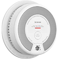 X-Sense Smoke Detector Alarm, 10 Years Battery-Operated Smoke and Fire Alarm with Photoelectric Sensor and Silence…