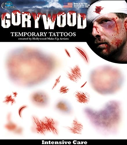 Tinsley Tattoo FX Halloween Transfers Intensive Care
