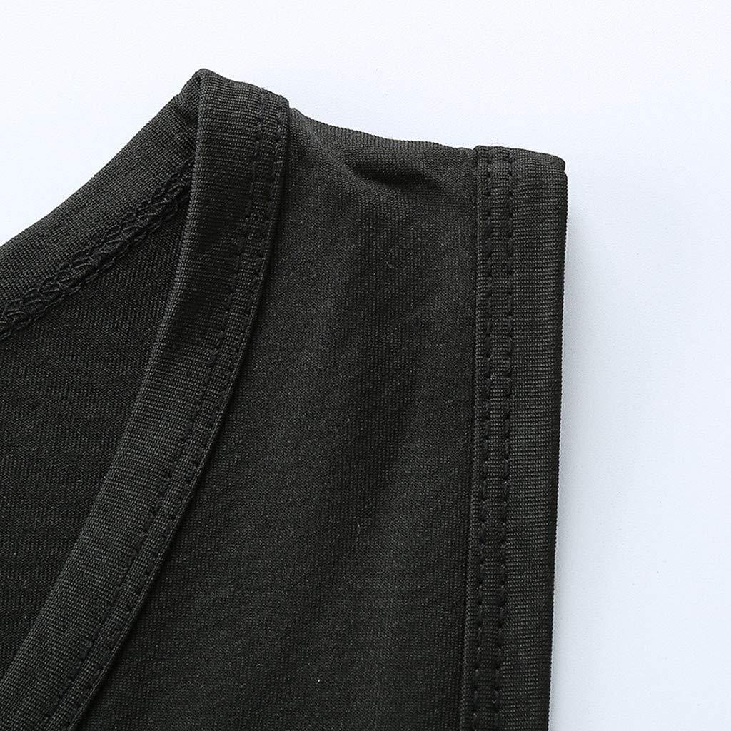 Kobay Personnalit/é De La Mode Hommes Chemisier D/éContract/é T-Shirt sans Manches Minces D/éT/é