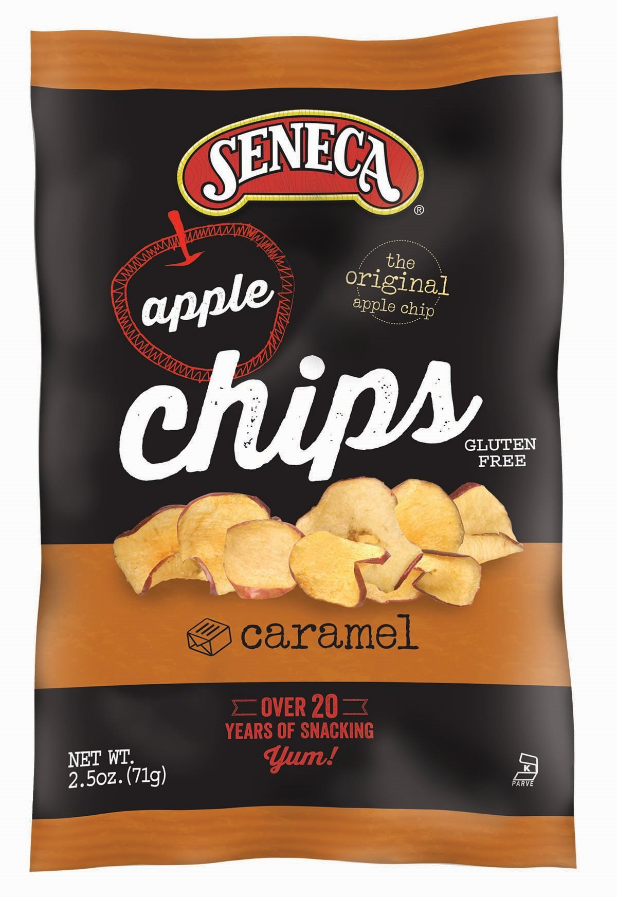 Seneca Caramel Apple Chips,2.5-Ounce Bags (Pack of 12)