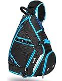 SEEU Large Sling Bag Backpack with Shoe Pocket, 32L Multi-Pocket Gym Bag