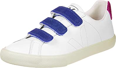 Veja Esplar Leather 3 Locks Blanco/Azul - Zapatillas Mujer, 41: Amazon.es: Zapatos y complementos