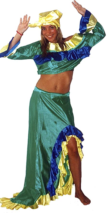 c1e1fa08e9 Costume di Carnevale Brasiliano da Donna, Adulto, Taglia XL: Amazon ...