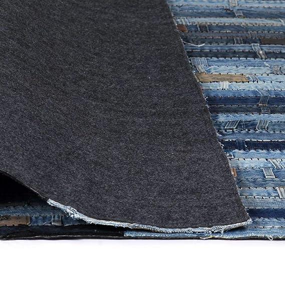 vidaXL Alfombra Patchwork Cinturilla Vaqueros Azul 80x150cm ...