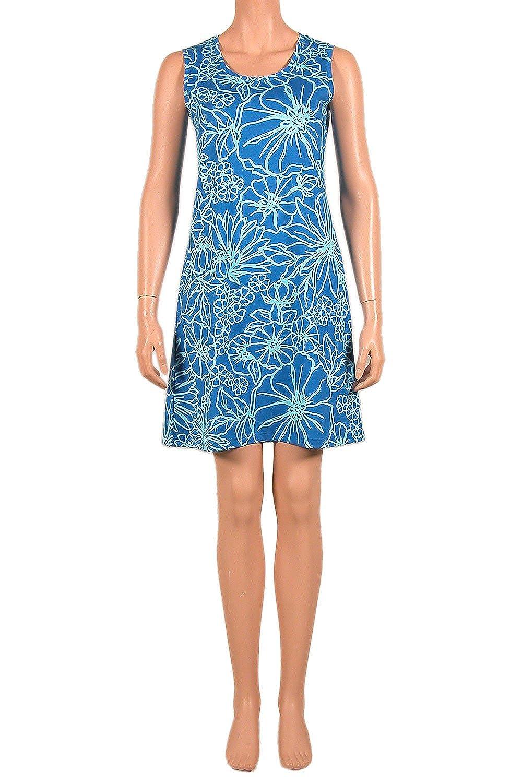 Nanso Damen Kleid Strandkleid ohne Arm Ladies Dress 90 cm lang Gr. M L XL XXL Modal Baumwolle