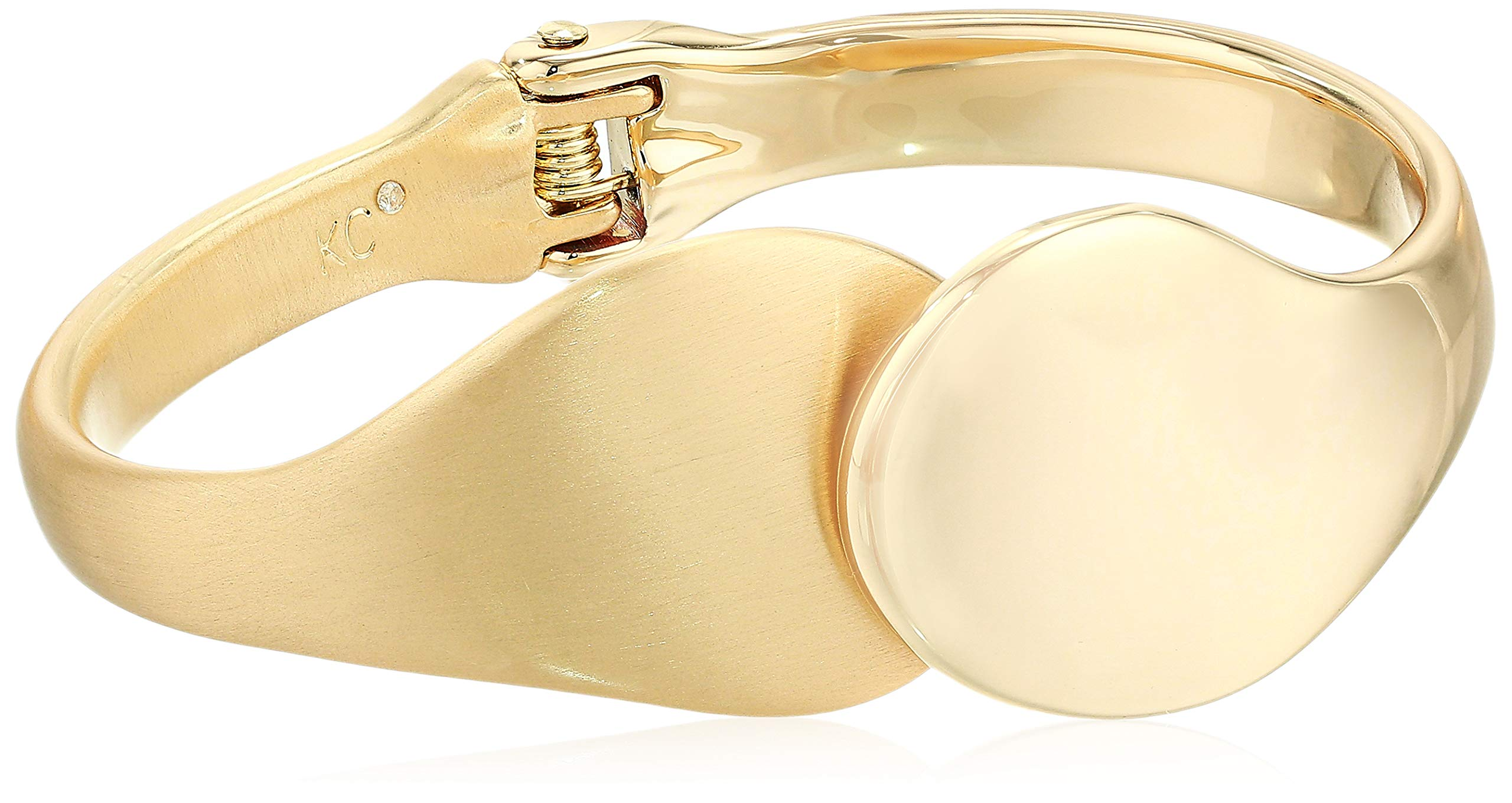 Kenneth Cole Women's Sculptural Hinged Bangle Bracelet, Gold, One Size