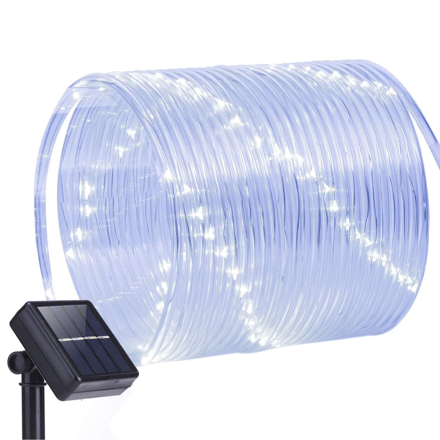 Oak Leaf Outdoor Solar String Lights, 41ft 100LED Solar Rope Lights Outdoor Lighting Rope,Waterproof Copper Wire Rope String Light with Solar Panel for Outdoor Indoor Home Garden Patio Parties