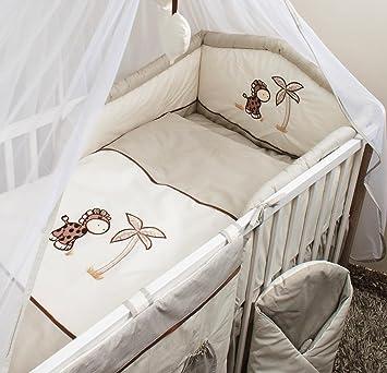 3 Teiliges Baby Bettwäsche Set 120x60cm Mit Dickem Kinderbett Schutz
