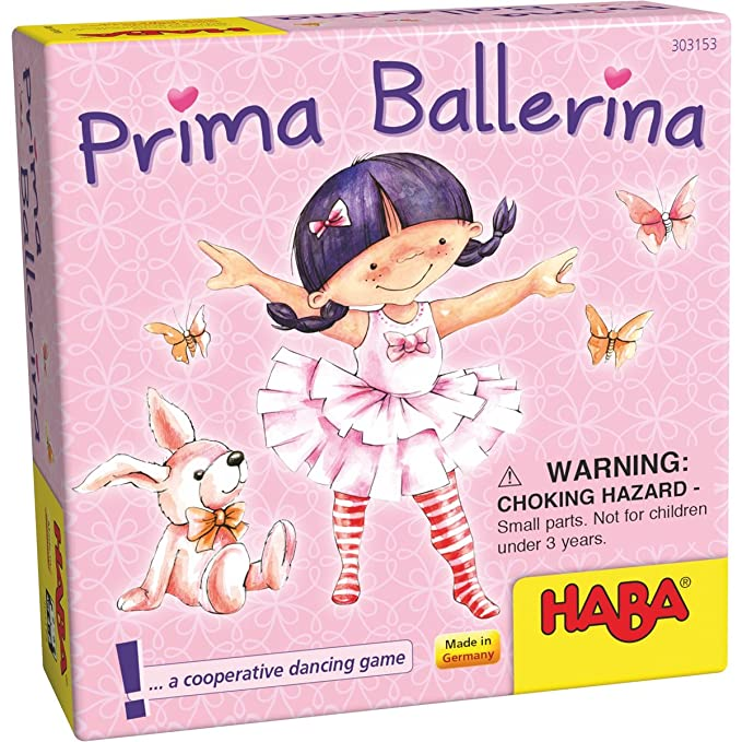 HABA Prima Ballerina - A Cooperative Dancing Pocket Card Game for Ages 4+  (Made in Germany)