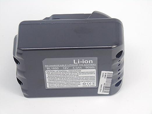 10 paquetes nuevo 18 V 5.0 Ah batería de repuesto para BL1830 ...