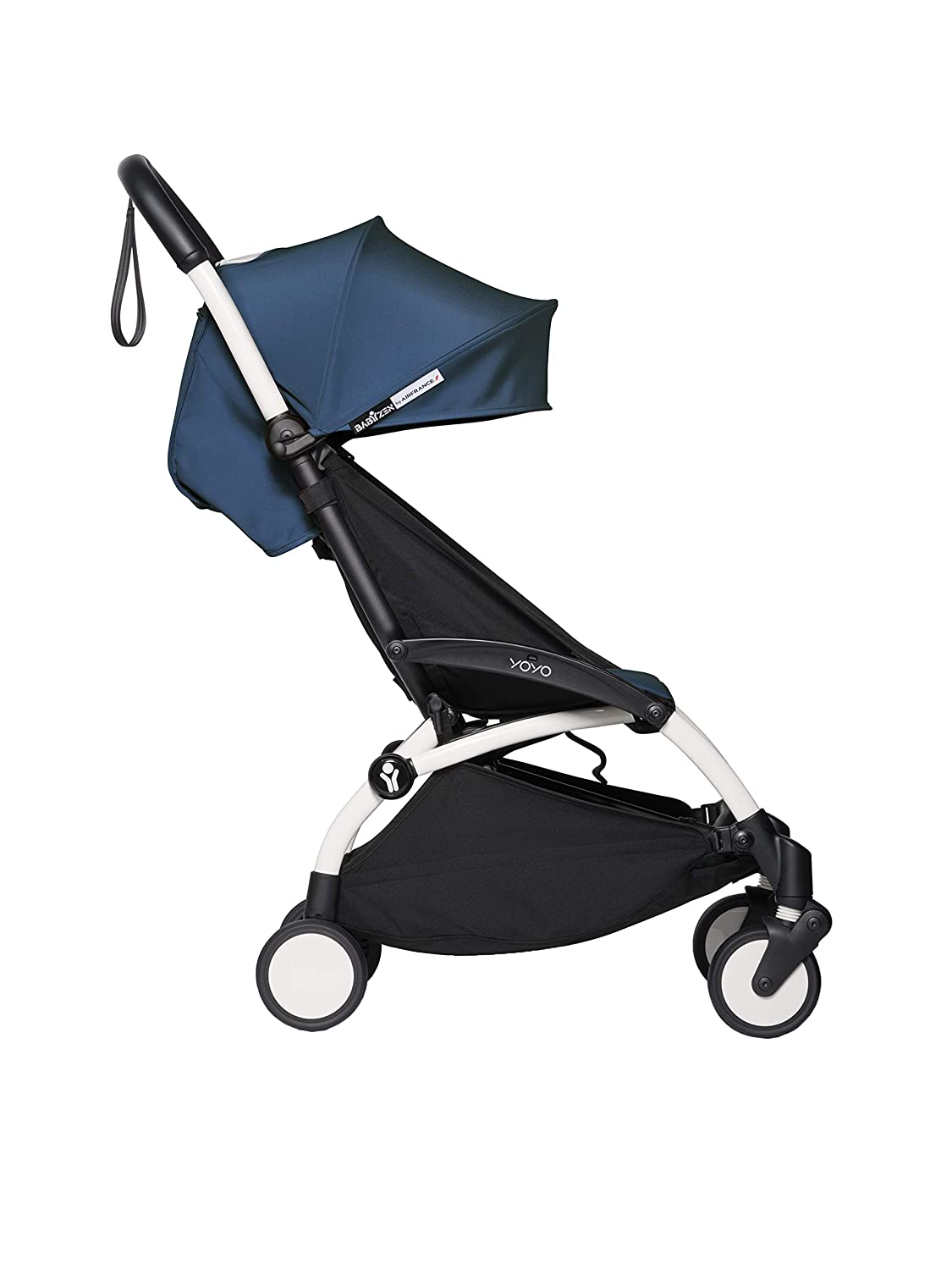 Stroller BABYZEN YOYO2 6 White Frame with Air France Blue Seat Cushion /& Canopy