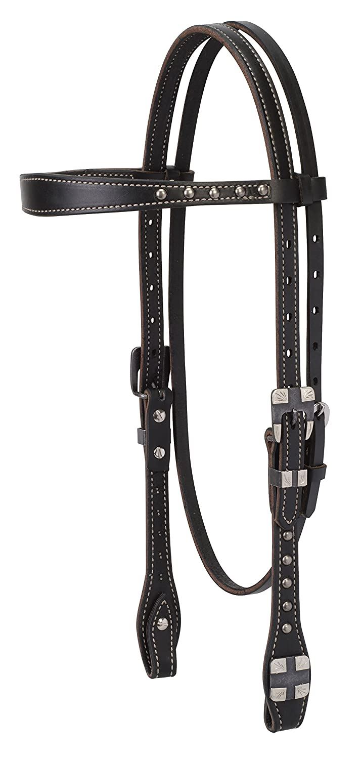 (Browband Headstall) - Weaver Leather Roundtable Collection   B06X8YYRTQ