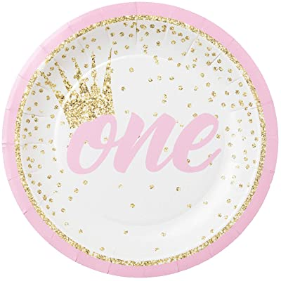 "Forum Novelties 79814 Happy 1st B'day Girl-Plate 7"" Multi, 9"" x 2"" x 2.5"" (Pack of 12): Toys & Games"