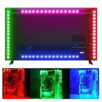 Amazon sursynch color changing led flexible light strip sursynch color changing led flexible light strip waterproof battery powered led strip lighting 30 leds audiocablefo