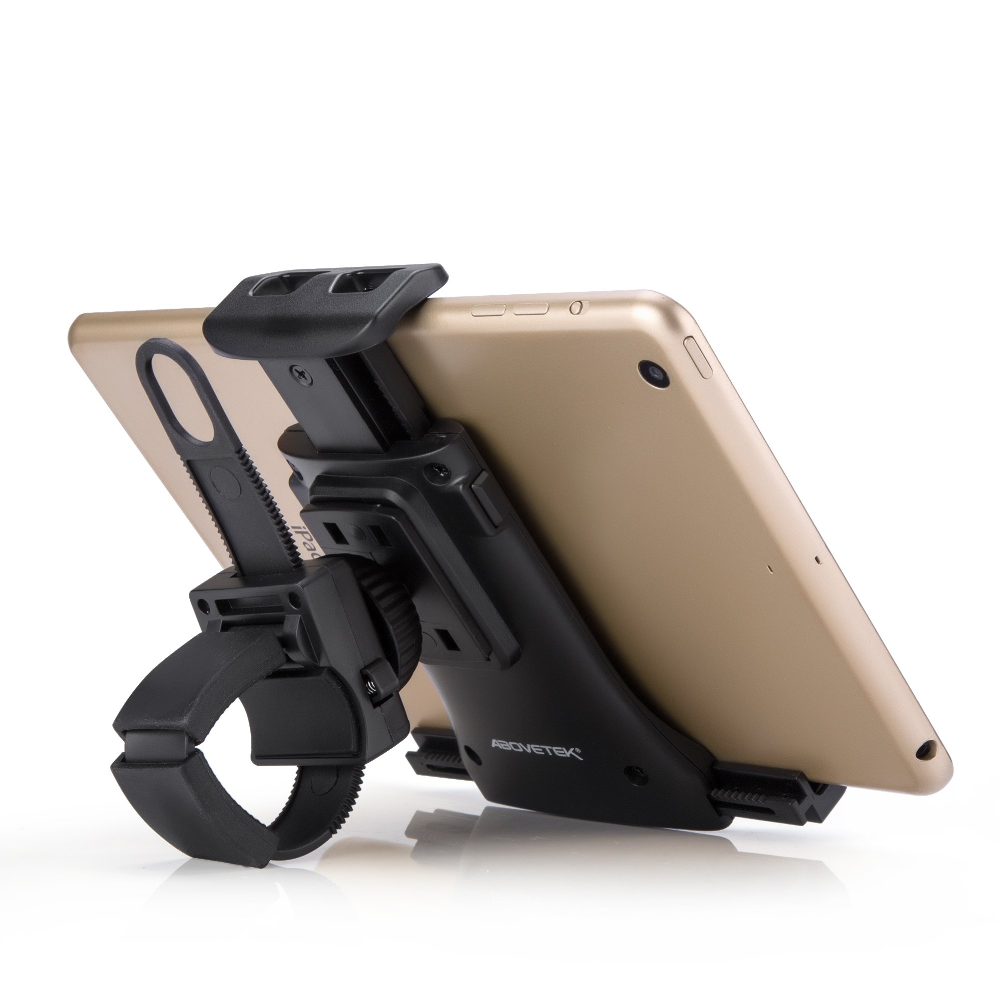 AboveTEK All-In-One Cycling Bike iPad/iPhone Mount, Portable Compact Tablet Holder for Indoor Gym Handlebar on Exercise Bikes & Treadmills, Adjustable 360° Swivel Stand For 3.5-12'' Tablets/Cell Phones by AboveTEK (Image #9)